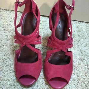 Gianni Bini pink suede heels
